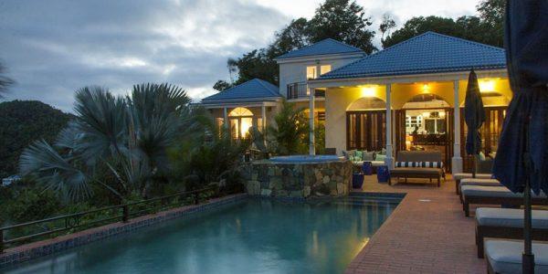 St John rental by owner villa Mystic Ridge