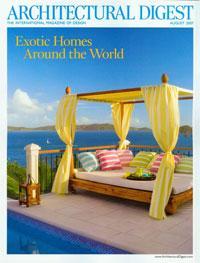 Architectural Digest cover featuring Hawksview Estate, St John USVI