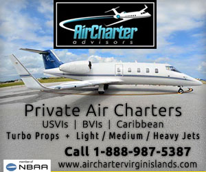 Private air charter services to US Virgin Islands, BVIs, Caribbean