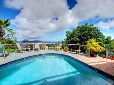 Cielo Vista Villa St John pool and view