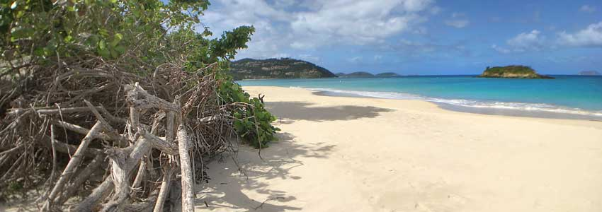Cinnamon Bay Beach, St John, US Virgin Islands National Park campgrounds
