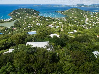Dream Sea Villa, St John aerial view