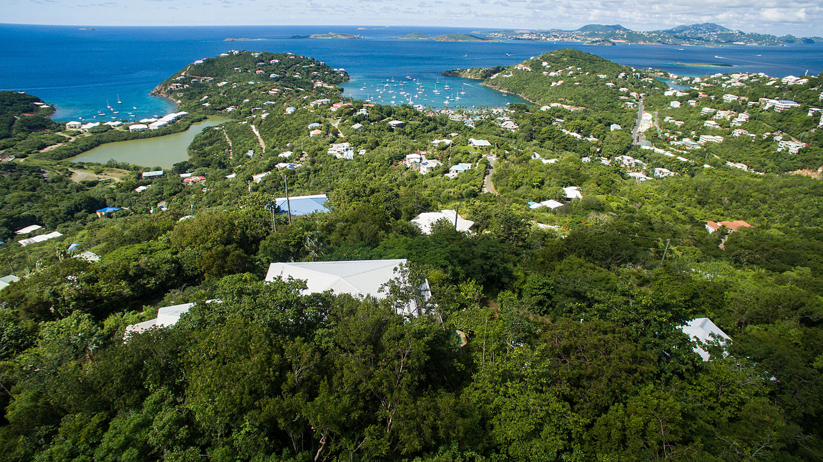 Dream Sea Villa, St John aerial view
