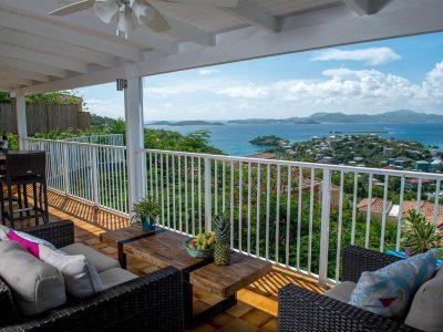 Island Abodes penthouse view of St Thomas USVI