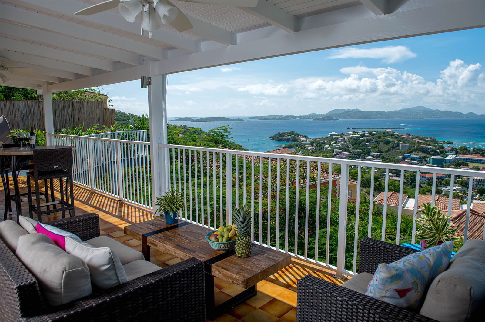 Island Abodes penthouse view of St Thomas USVI
