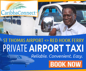 St Thomas airport to Red Hook St John taxi transportation