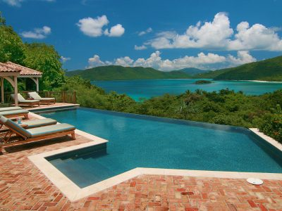 Villa Sunspot, Peter Bay, St John pool view