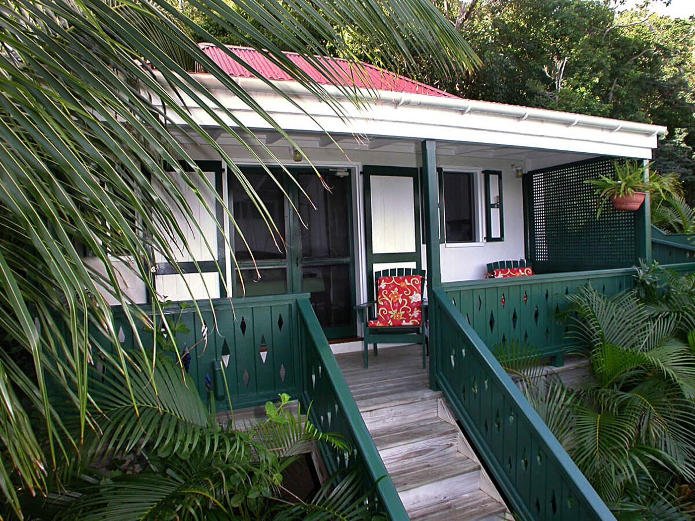 Windwardside Guest Cottage Coral Bay, St John US Virgin Islands entrance ot cottage