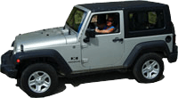 St John car rental Jeep 4x4
