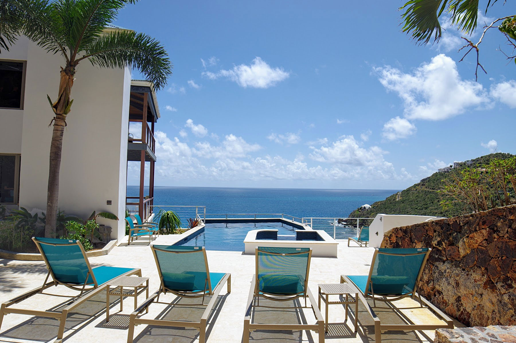 Oceanport Villa, St John pool and view