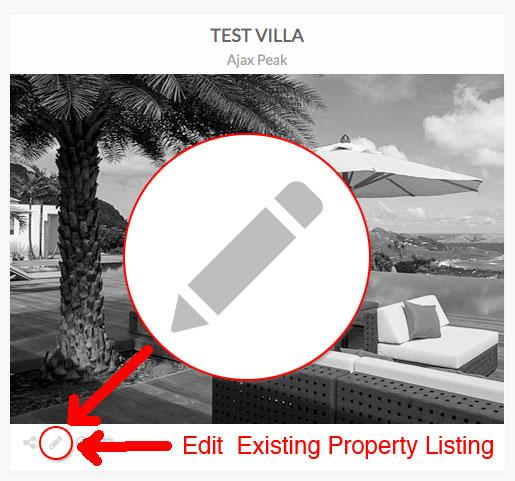 Instructions on updating your St John villa rental listing