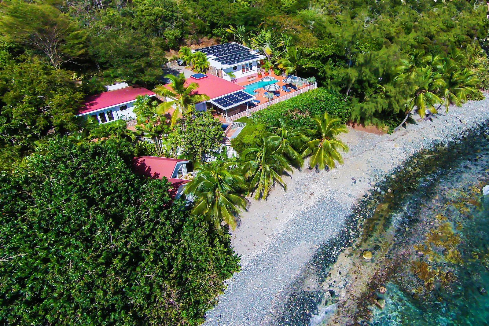 Beautiful beachfront villa on St. John