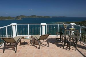 Wind Ridge Villa vacation rental views over Coral Bay, St John, USVI