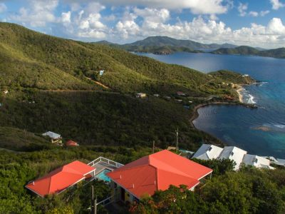 Caribe Breeze Villa St John US Virgin Islands aerial view