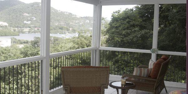 Casita Del Mar Villa St John vacation rental deck view of Coral Bay