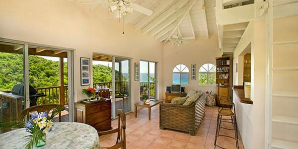 St John rental villa Lille Paradis living room