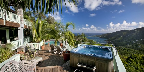 Sea Glass Villa, St John rental pool and view