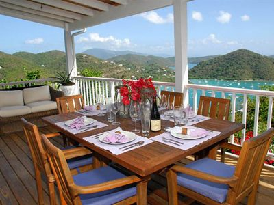 Tequila Sunrise Villa, St John rental with view of Coral Bay