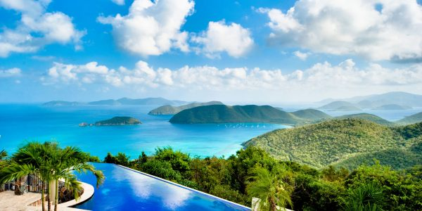 Island Stones Villa, St John pool and BVI ocean views