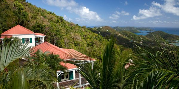 A Winsome House St John vacation villa, Coral Bay view