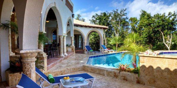 Alta Vista Villa, St John pool area