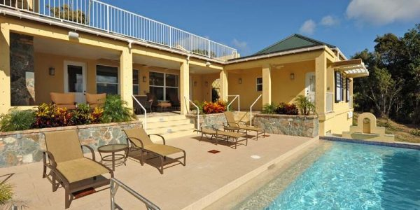 Bay Rum Villa St John vacation rental pool