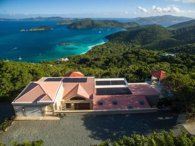 Great Escape Villa view of Cinnamon Bay, St John