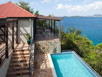 Palm Hill Villa, St John view