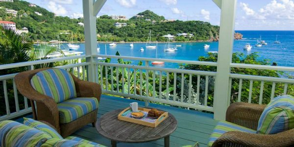 Seagate Villa St John outdoor deck seating