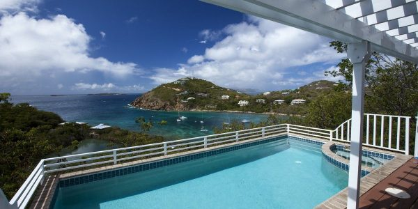 Time Out Villa, St John pool and view of Chocolate Hole