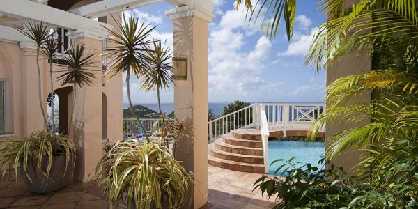 Ambiance Villa St John vacation rental pool view