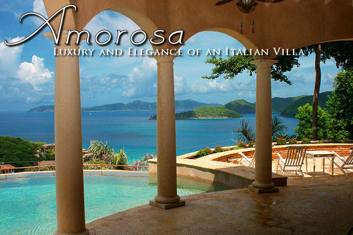 Amorosa Villa, Peter Bay, St John pool view