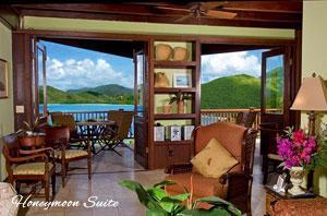 Peter Bay Gatehouse Honeymoon Suite great room