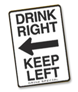 Drink Right Keep Left drink recipe