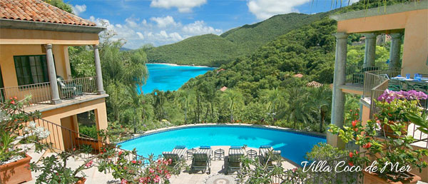 luxury villa Coco de Mer, St John, US Virgin Islands