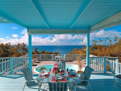 French Cap villa, St John, US Virgin Islands deck and pool