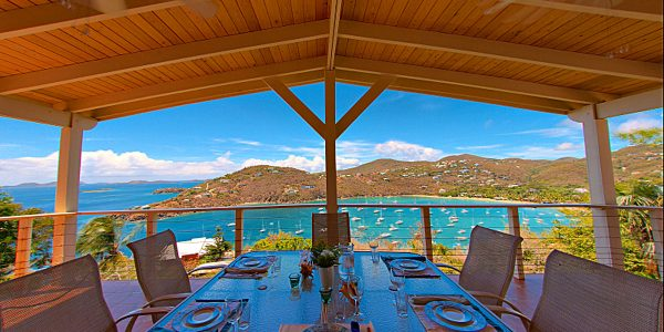 Morgan Point Villa, St John view