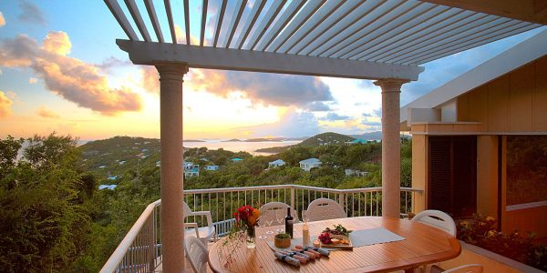 Paradise Revisited Villa deck view