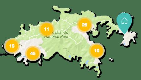 St John vacation rental map