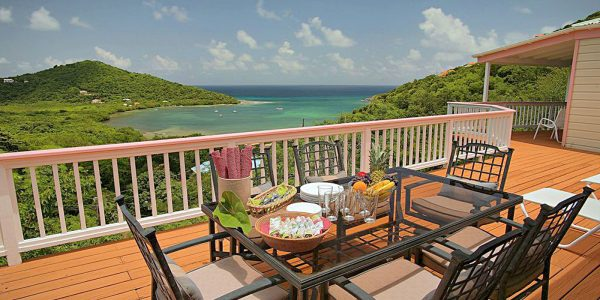 Southern Exposure Villa, Fish Bay, St John deck view