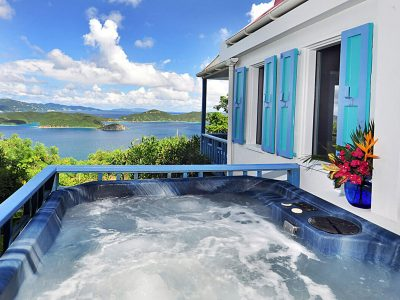 Sago Cottage, Coral Bay, St John US Virgin Islands spa and view