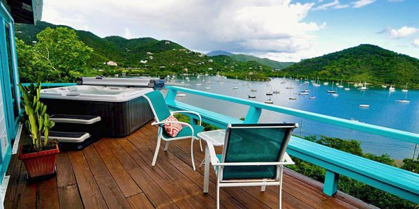 Tortuga Cottage, Coral Bay, St John deck view