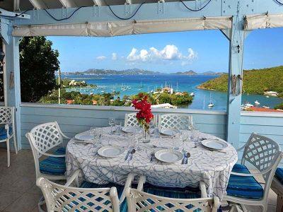 Captain's View, St John vacation rental view of Cruz Bay