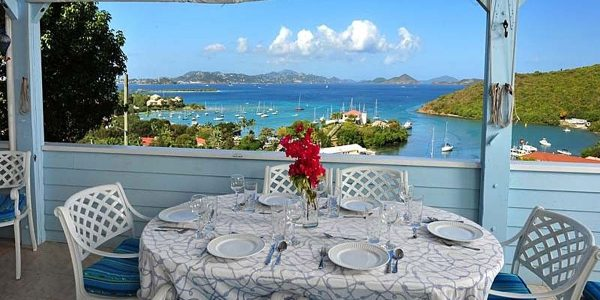 Captain's View, St John vacation rental view of Cruz Bay