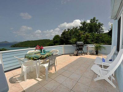 Harbor View, Cruz Bay St John vacation rental deck
