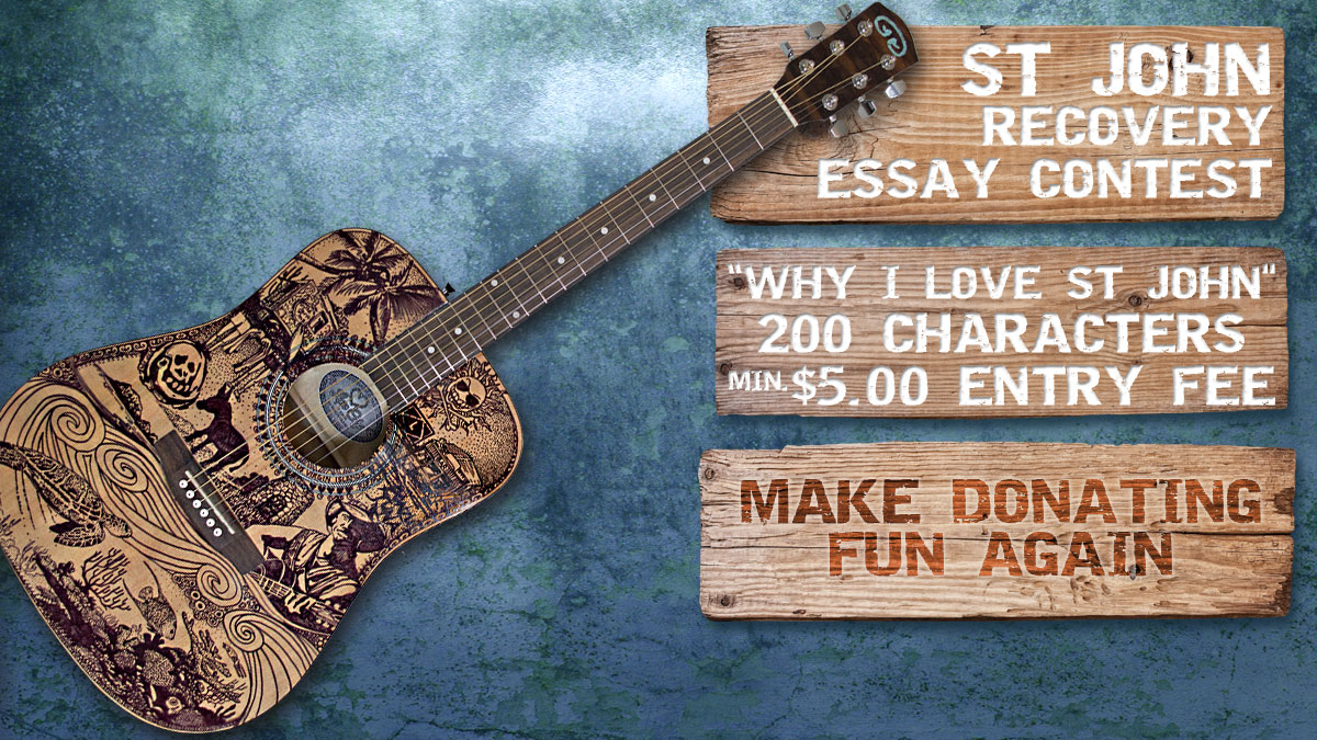 St John recovery relief essay contest guitar