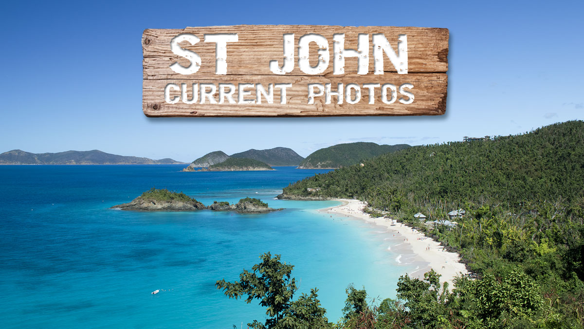 St John USVI current conditions post hurricane recovery