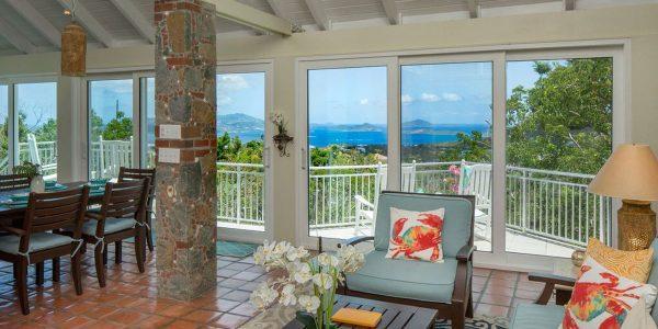 Villa Mangaade living room view