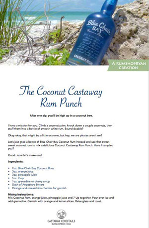 Coconut Castaway Rum Punch recipe