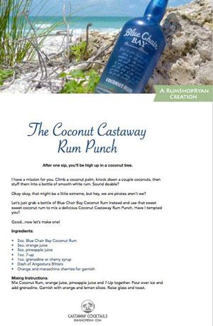 Coconut Castaway Rum Punch recipe